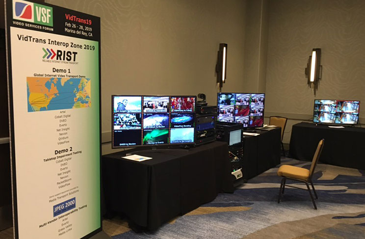 Picture of the VidTrans19 Interop Demonstration
